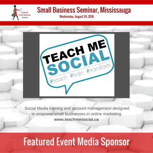 Seminar Mississauga - Sponsor - Teach Me Social