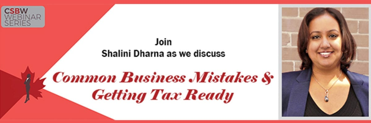 FREE Webinar: Common Business Mistakes and Getting Tax Ready