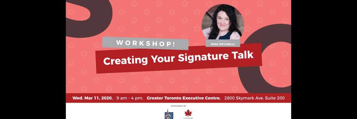 Creating Your Signature Talk – West End Edition