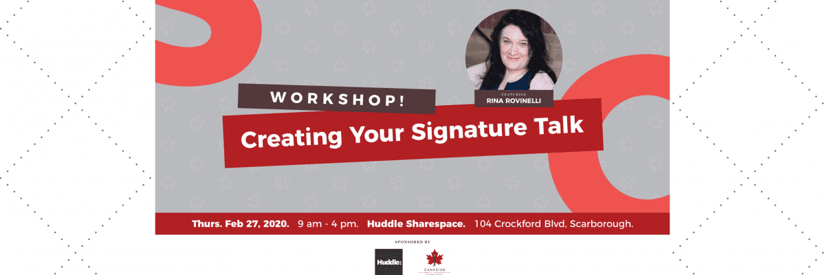 Creating Your Signature Talk – East End Edition